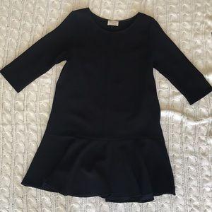 Everly Ruffled Black 3/4 dress